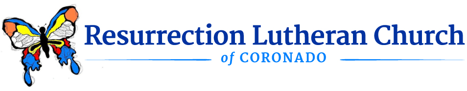 Resurrection Lutheran Church of Coronado Retina Logo